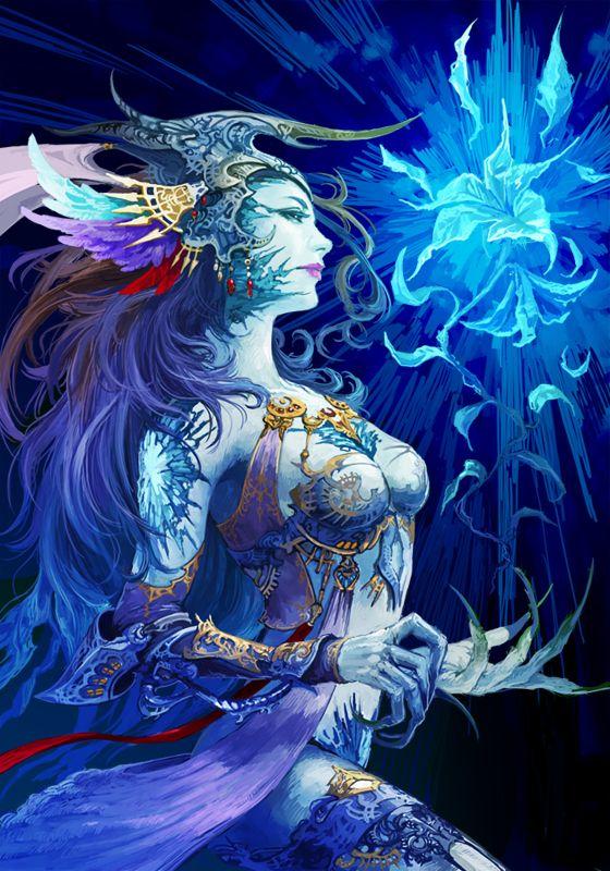 Shiva - Final Fantasy.... This makes me wanna redo my shiva a bit...