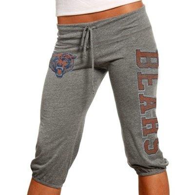 Junk Food Chicago Bears Ladies Ash Lounge Tri-Blend Crop Pants $38 (M)