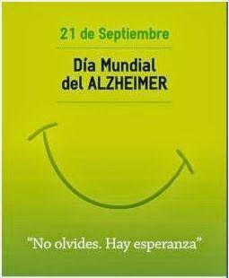 21 de Septiembre: DÍA MUNDIAL DEL ALZHEIMER.