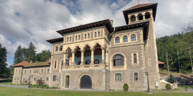 Join buildyful.com - the global place for architecture students.~~CANTACUZINO CASTLE, Busteni, Prahova County, built in 1911 in neo-romanian style, Romania