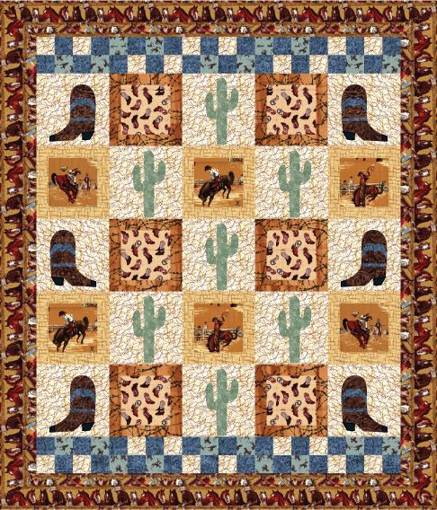 ~ free pattern ~  Ride 'Em Cowboy by Debby Kratovil Quilts