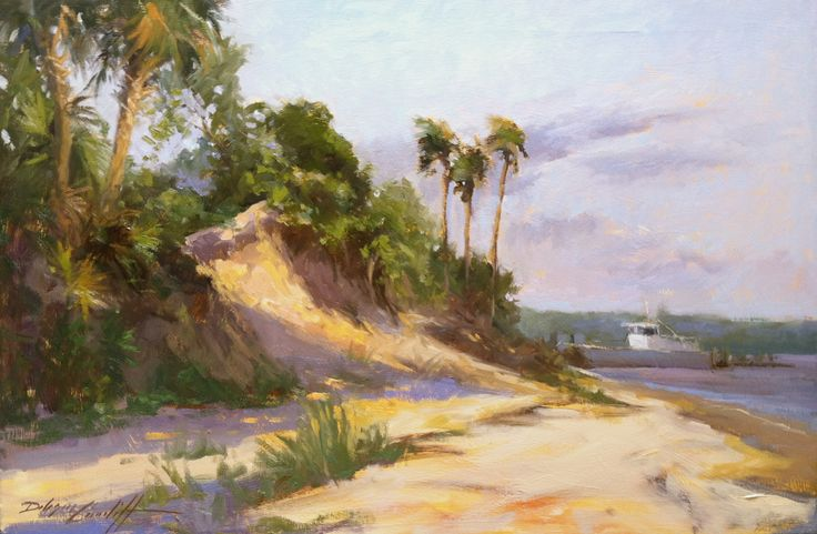 """Ferry Dunes"" 26"" x 36"" Available Sand Dunes at ferry launch to St. Vincent Island in Florida's Forgotten Coast."