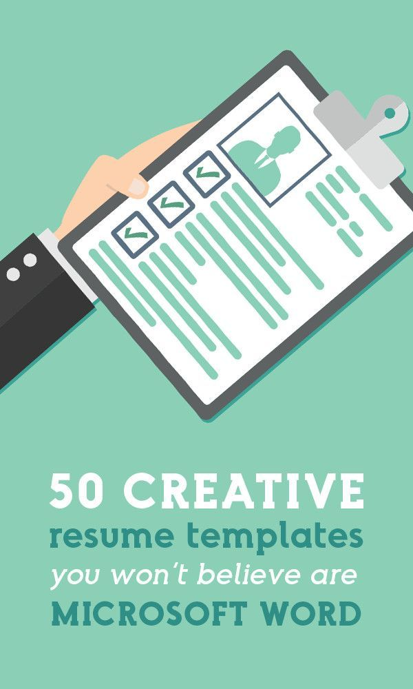 50 Creative Resume Templates You Won't Believe are Microsoft Word