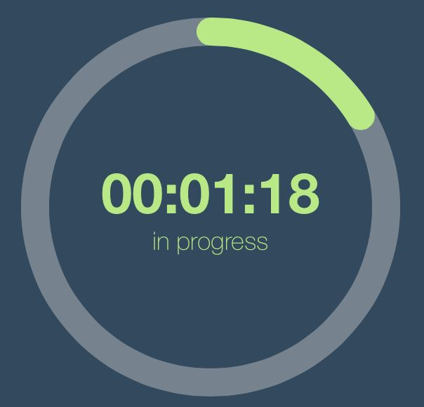 nice UI control to show the timer progress