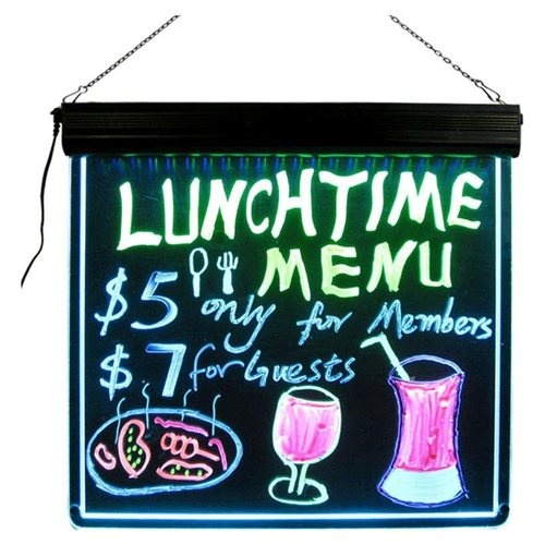 "LED Writing Board flashing LED menu boards  17"" x 17""   Display for Menus, Sales"