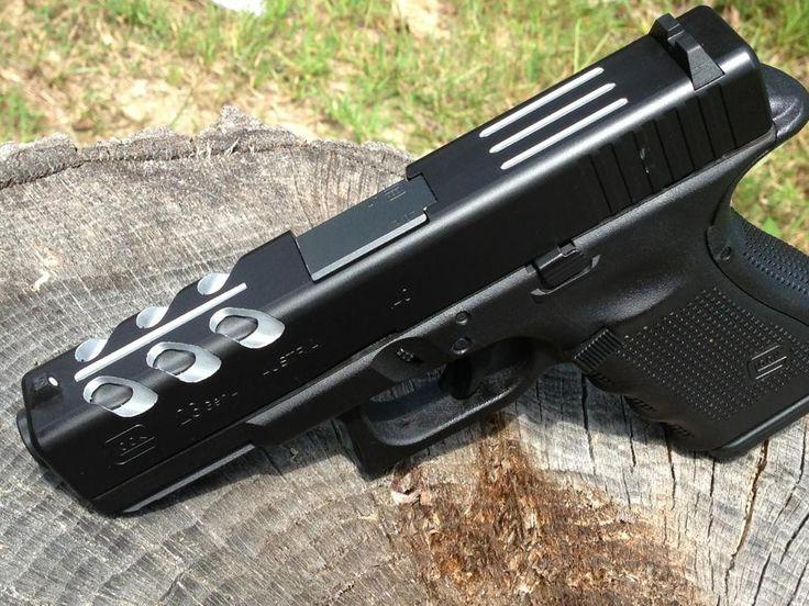 Custom Glock 23 Slides Glock 23 with custom cutsGlock 30 Custom Slide