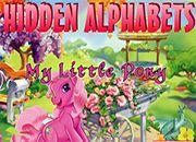 juegos de my little pony hidden alphabets