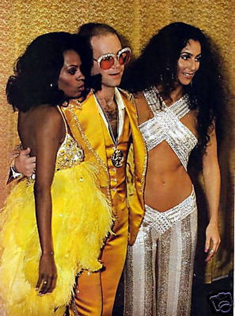 diana ross, elton john and cher