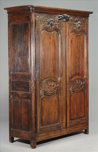 french armoires | French Provincial Oak Armoire (ref. 0855)
