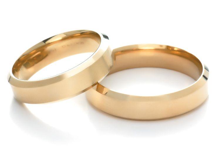 Anillos de #matrimonio de oro amarillo