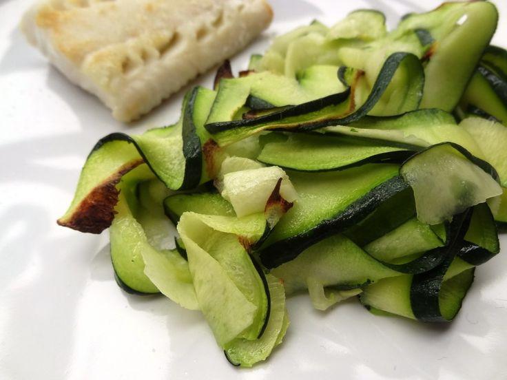Courgettes au grill et cabillaud (sans gluten)
