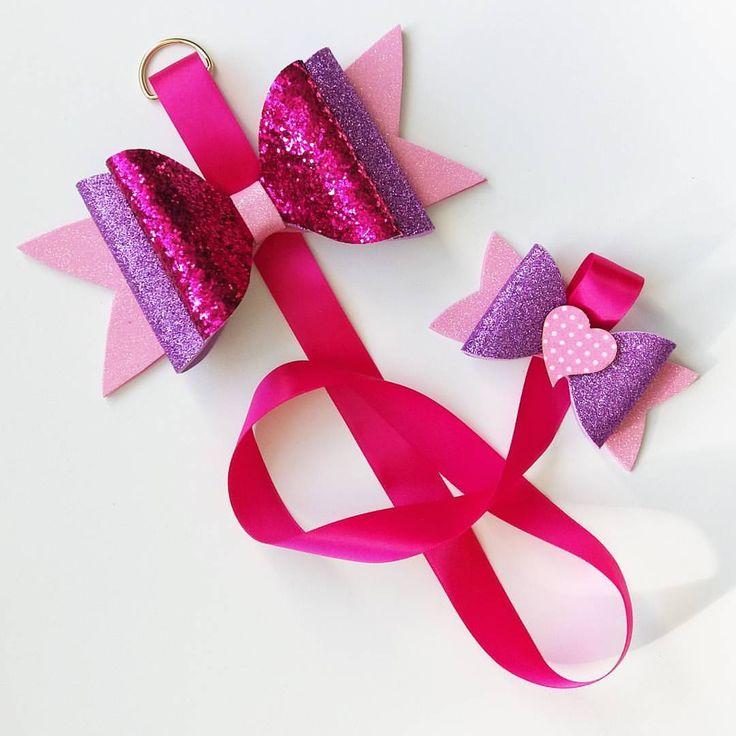 "45 Likes, 1 Comments - Indigo Phoenix (@indigo___phoenix) on Instagram: ""Another custom bow holder 😍 Custom bow holder 🎀 #bows #handmade #bow #glitter #ribbon #children…"""