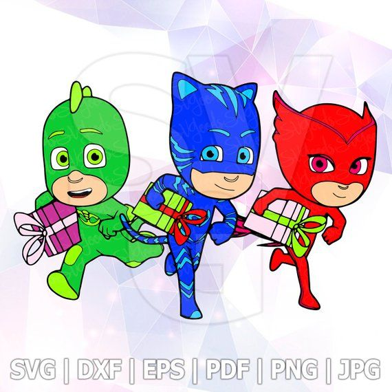 Christmas Gifts Pj Masks Svg Catboy Owlette Gekko Layered Birthday Party Iron On Cricut Design Silhouette Decoration Vinyl Iron On Cricut Catboy Vinyl Tshirts