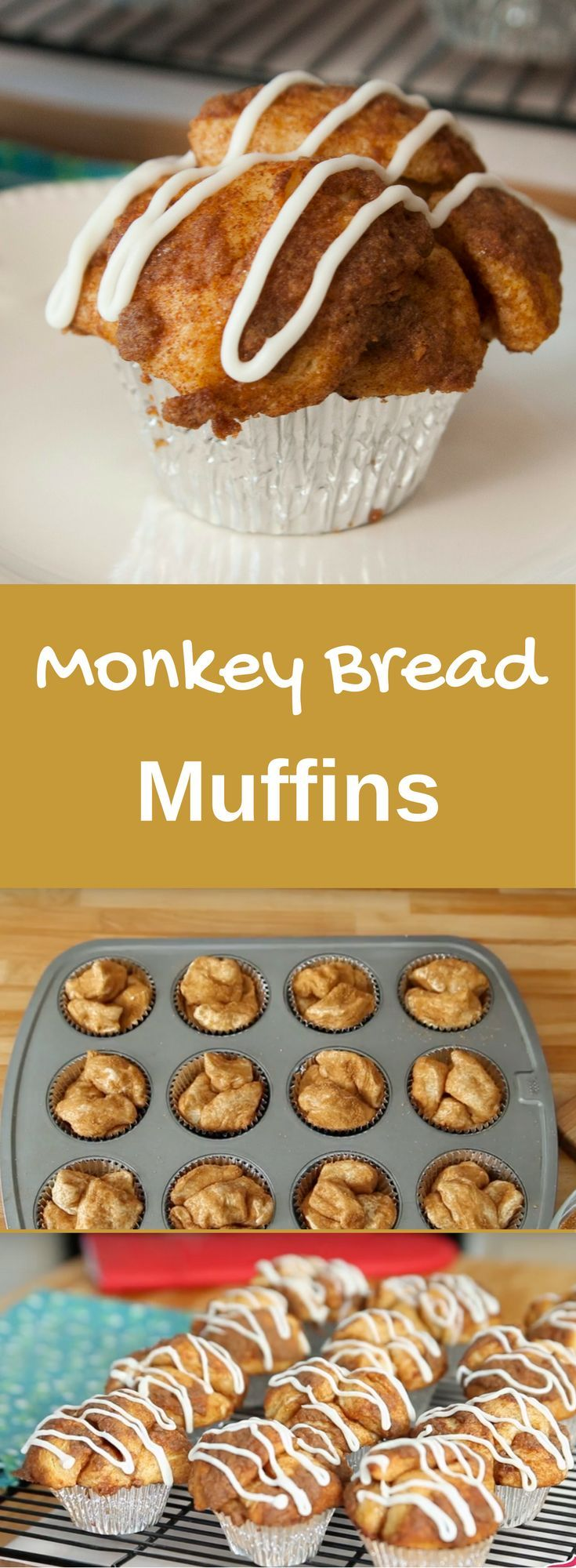 Monkey Bread Muffins recipe uses biscuit dough and makes it into fun and yummy muffins.