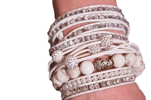 Flott kombinasjon. Fyll armen med smykker.