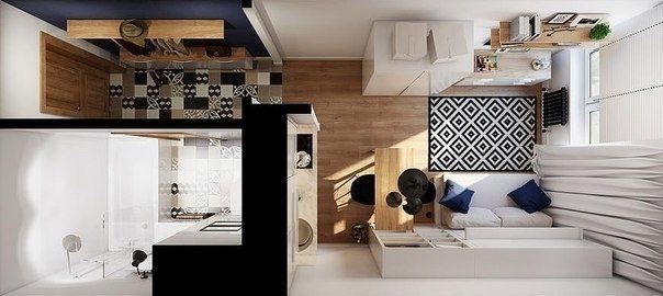 Интерьер для квартиры в 19 кв.м. - Дизайн интерьеров | Идеи вашего дома | Lodgers