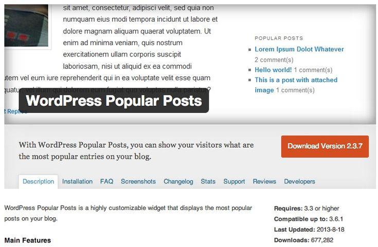 Most Popular Free WordPress Plugins for Listing Popular Post
