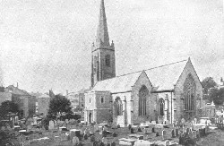 Charles' Church and graveyard circa 1910