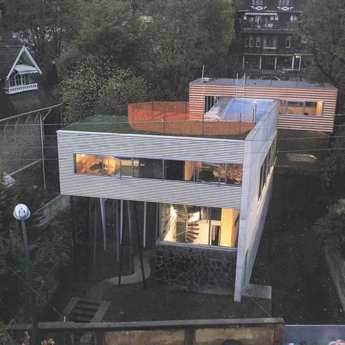 Rem koolhaas oma villa dall 39 ava saint cloud paris for Dall ava parquet