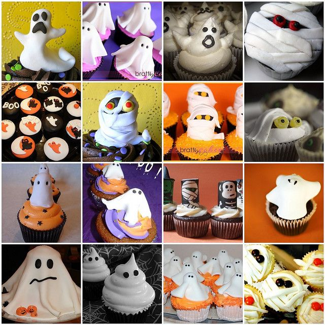 Ghost Cupcakes by *kimmie*, via Flickr