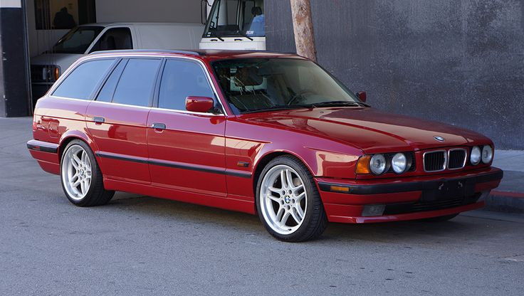 This 1995 BMW 540i Touring has been upgraded with a 282-HP M62B44 4.4 liter V8 and 6-speed manual transmission. It began life as a 530iT with a smaller, 3.0 liter V8 and automatic transmission, and was converted early last year by a BMW master technician using all OEM parts.