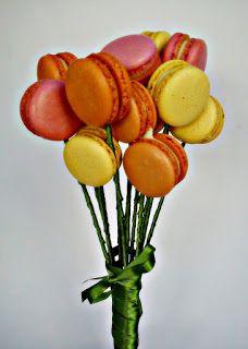 Green Short Doces - Macarons Franceses  Pucci Dulci: Bouquet de Macarons