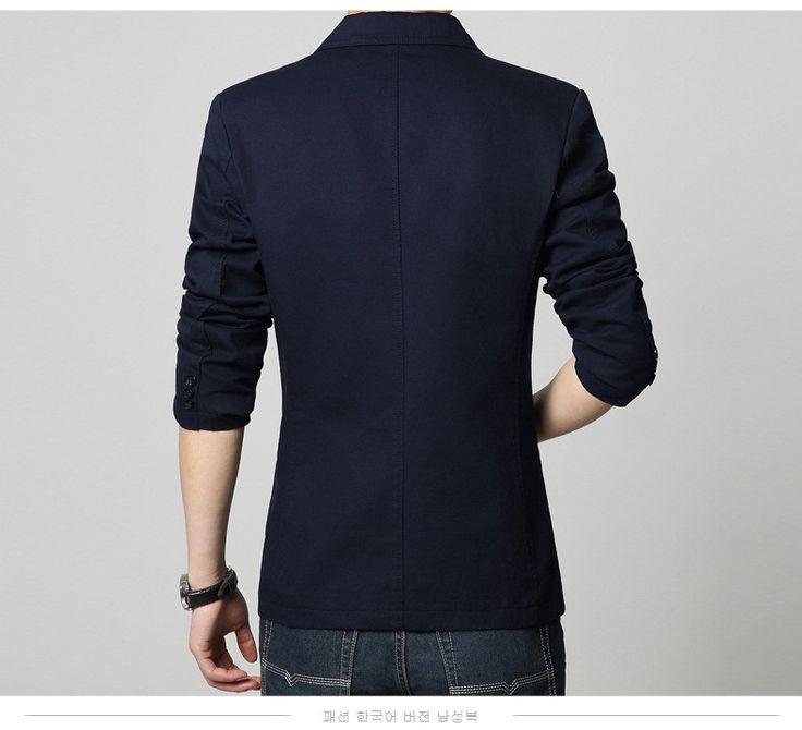 Los hombres adelgazan la chaqueta de la chaqueta de ajuste más el tamaño 2017 de primavera de alto grado de la chaqueta de algodón puro de los hombres ocasionales calientes chicos capa de la chaqueta flaco