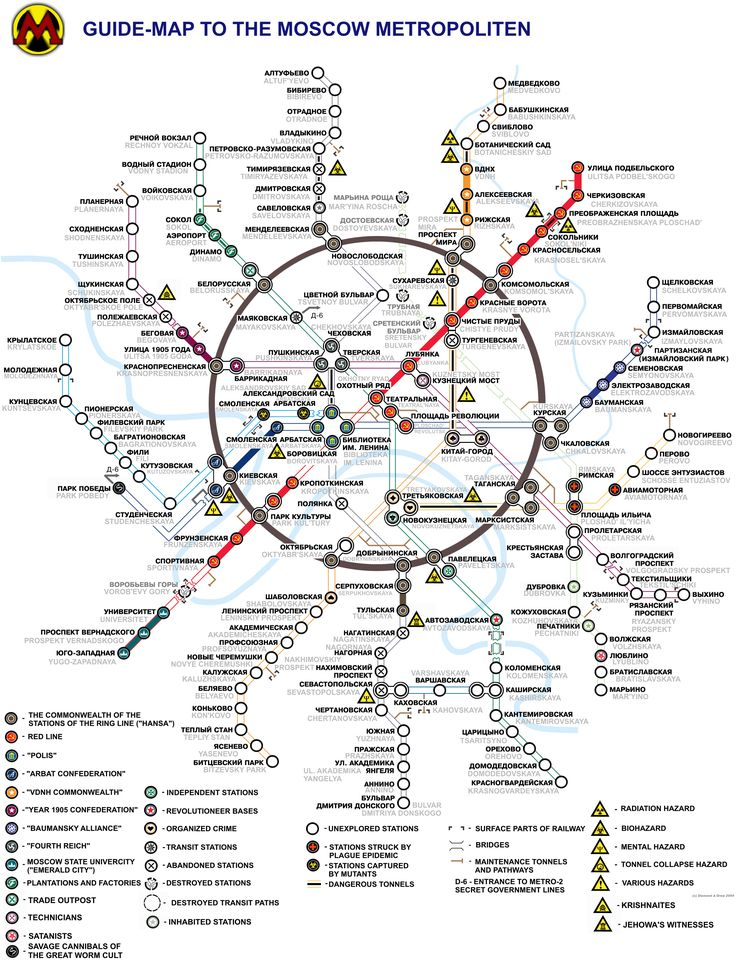 The Metro 2033 Fantasy map that was in the book.