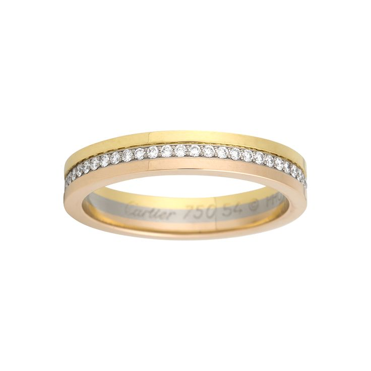 ... match for the Trinity Pearl Ring. The Cartier Three-gold wedding band