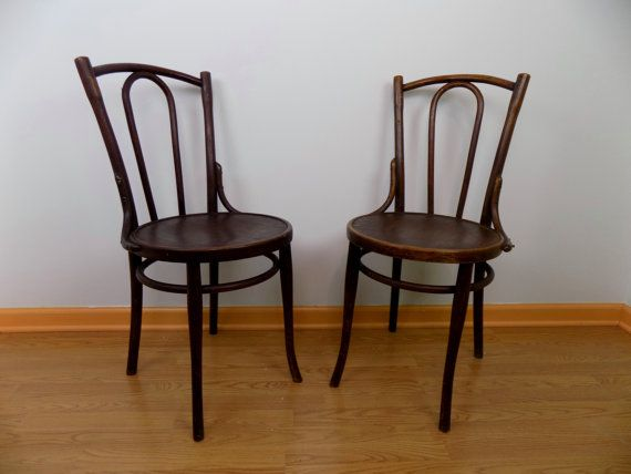 Original Kohn Mundus Thonet Bentwood Parlor Chairs Pair