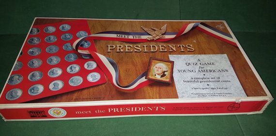 Check out this item in my Etsy shop https://www.etsy.com/listing/467660207/meet-the-presidents-quiz-game-selchow