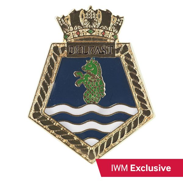 HMS Belfast Crest Pin Badge.