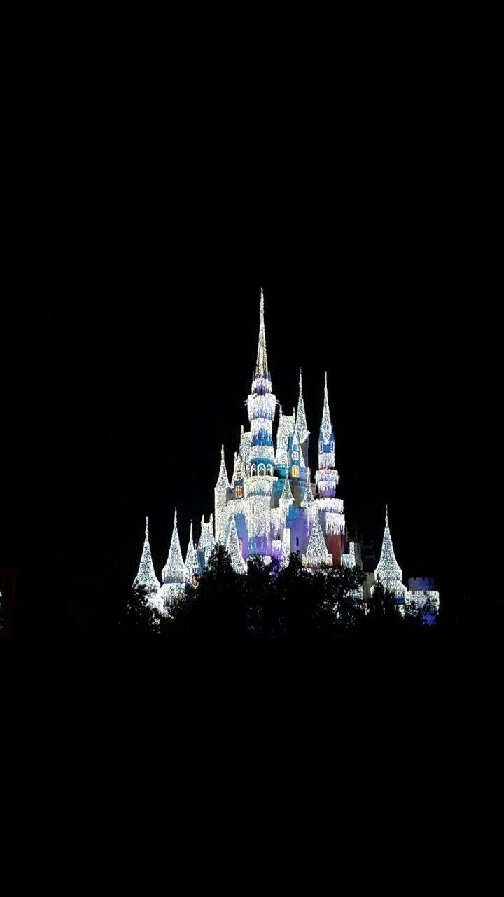 Cinderella S Castle Black Wallpaper Wallpaper Tablet Wallpaper