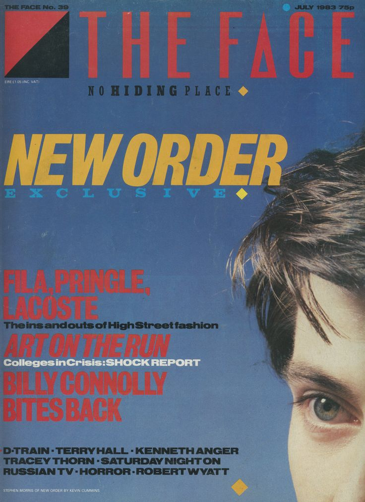 "cMag314 - The Face Magazine ""New Order"" cover by Neville Brody / July 1983"