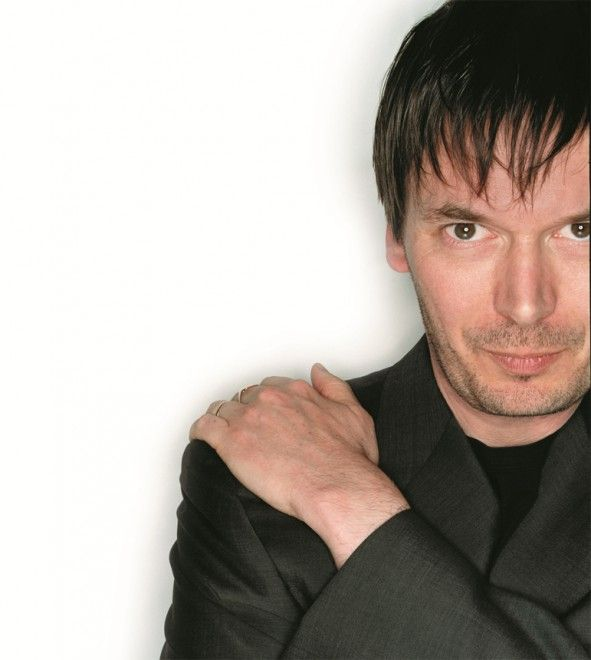 Ian Rankin, brilliant Scottish crime writer, his central character being the hard man Inspector John Rebus.