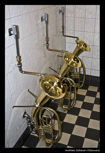 Some brassy toilets