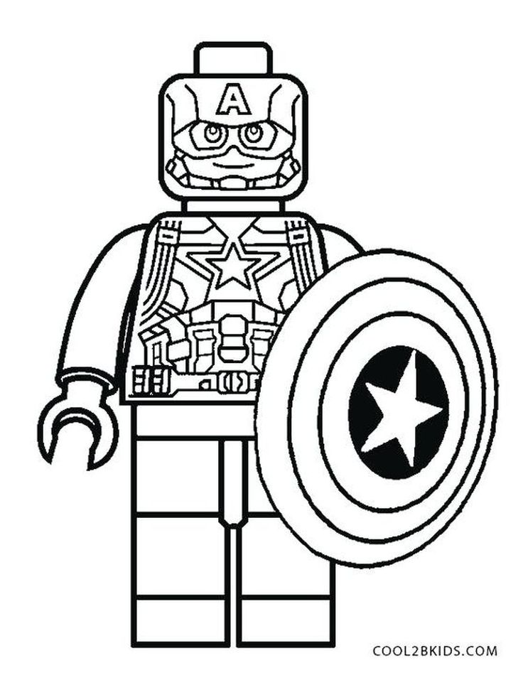 Marvel Captain America Coloring Page | Captain america ...