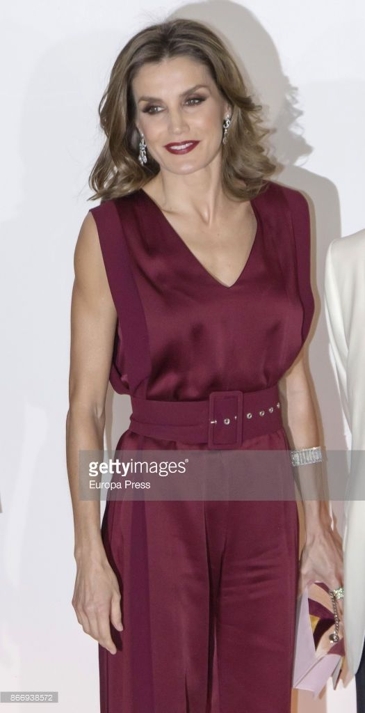 Queen Letizia of Spain attends a dinner in honour of 'Mariano de Cavia', 'Mingote' and 'Luca de Tena' awards winners on October 26, 2017 in Madrid, Spain.