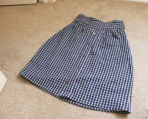Skirt out of a men's shirt. So cute!
