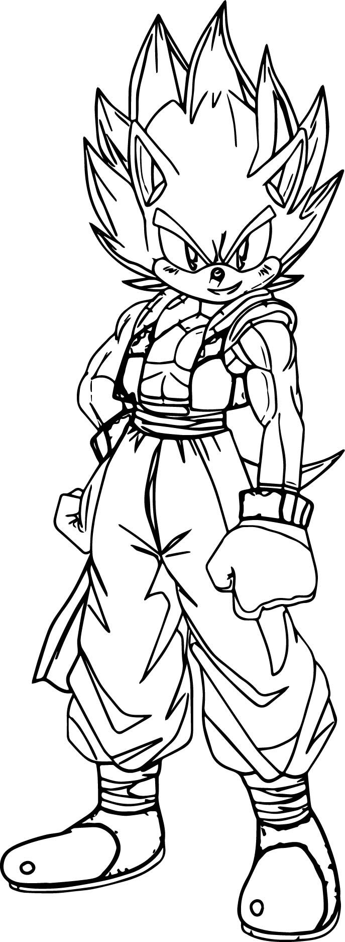 Awesome Goku Sonic Coloring Page Coloring Pages Printable Christmas Coloring Pages Christmas Coloring Pages