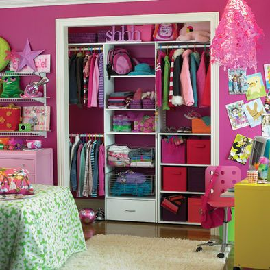 Kids Tween Girls' Bedroom Paint Design, Pictures, Remodel, Decor and Ideas - desperately need to work on the girls closets