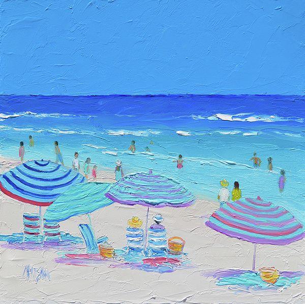 Sunny Life beach painting for coastal decor.  #beachdecor #beachart #beachlife