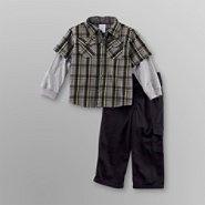 WonderKids Infant/Toddler Boy's Shirt & Cargo Pants Set at Kmart.com