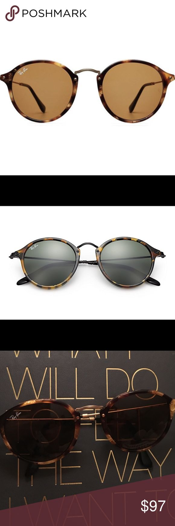 Ray-Ban Round Fleck Tortoise Women's Sunglasses 2017 Ray-Ban Round Fleck Tortoise Women's Sunglasses. Vintage look! Style number: RB2447. Comes with case. Selling these because they are too big for my frame and face. Like new :) Ray-Ban Accessories Sunglasses