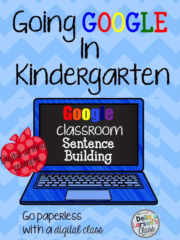 Google Classroom for kindergarten. Are you going 1:1? This digital writing prompt is the perfect way to embrace technology and access digital publishing. For use in Google Classroom.