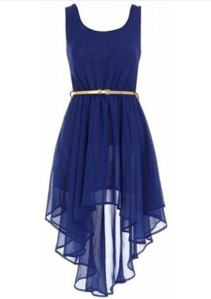 Vestido azul casual