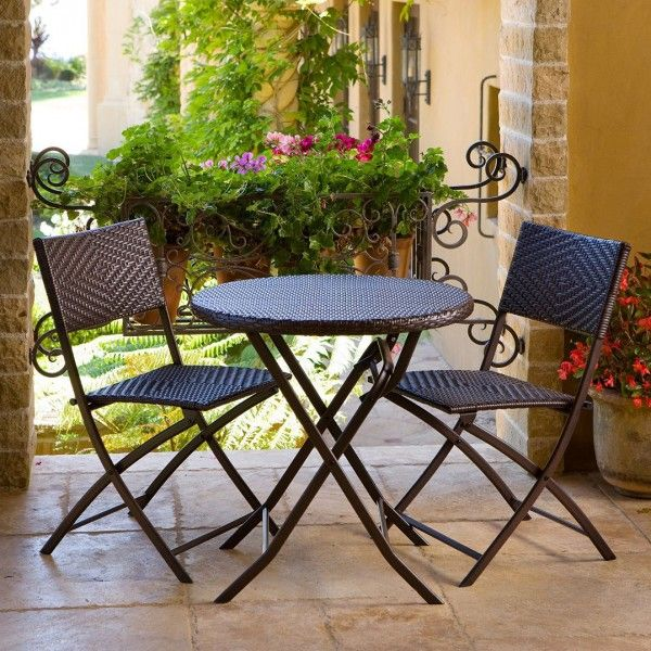 rst brands bistro patio furniture bistro 3 piece set in espresso rattan by rst outdoor model allows you to entertain with distinction and - Garden Furniture 3 Piece