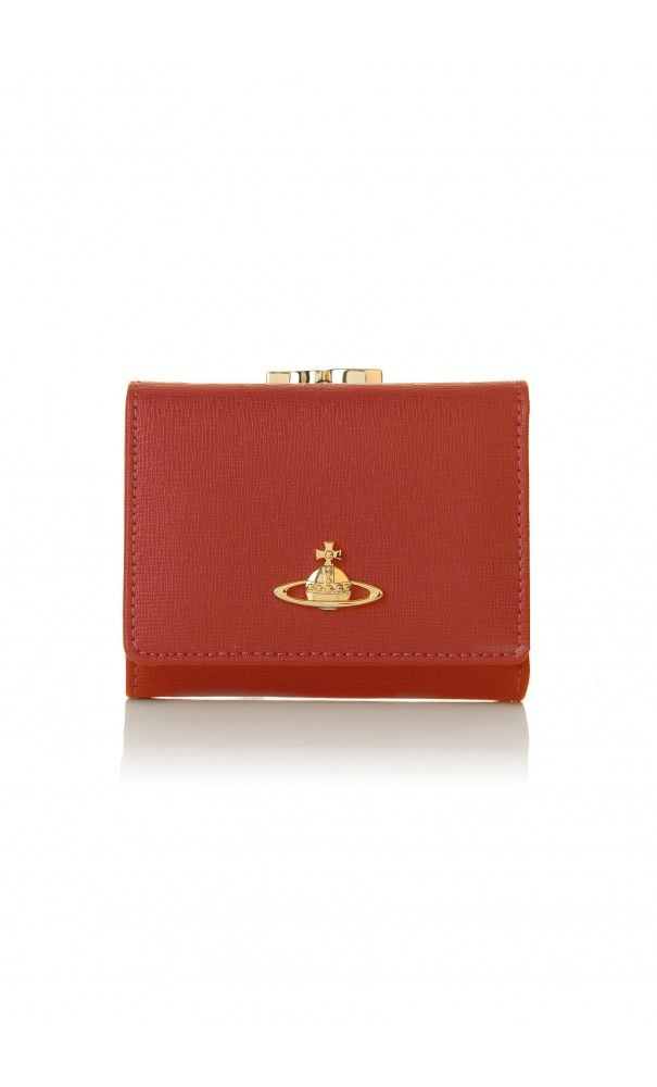 Vivienne Westwood Saffiano 1311 Small Clasp Purse Cherry Red