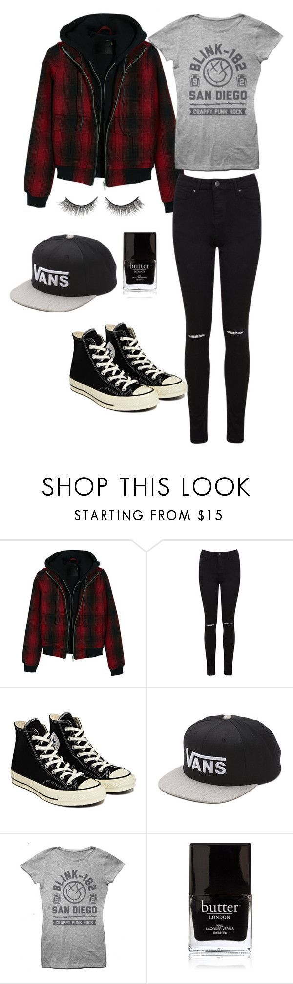 """""""Michael Clifford Inspired Outfit"""" by allinichole ❤ liked on Polyvore featuring R13, Miss Selfridge, Converse, Vans, Butter London and Rimini"""