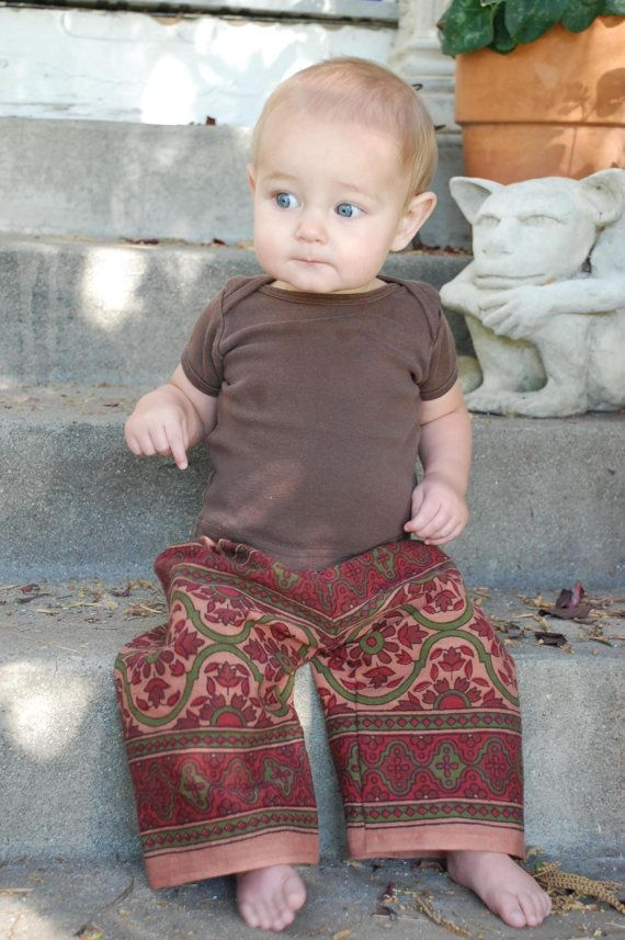 Baby BoHo Hippie East Indian tapestry fabric pants by 3mossflowers, $11.50